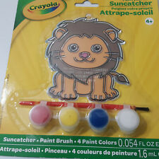 Crayola Lion Suncatcher Painting 4 Paint Set Brush Kids Arts and Crafts