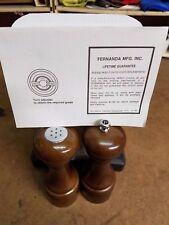 """New Fernanda dark wood salt and pepper mills 5.25"""" model# w2206 NIB"""