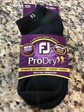 FootJoy Women's (Size 6-9) ProDry Low Cut Black (2 Pair Pack) Golf Socks 16016