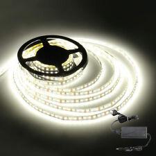 5M LED Streifen Licht 3528 SMD Stripe Band Leiste+ Netzteil Kalt Weiß Super Hell