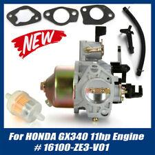 Carburetor Carb for Honda GX340 11HP Engine 16100-ZE3-V01 W/Gaskets Motor