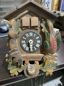 Vintage Cuckoo Clock Germany for Parts or Restoration
