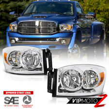 2006-2008 Dodge Ram 1500 Chrome Factory Style Headlights 2006-2009 Ram 2500 3500