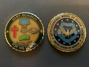 GARY BEIKIRCH MEDAL OF HONOR CHALLENGE COIN VIETNAM WAR