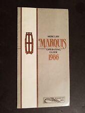 1986 MERCURY MARQUIS ORIGINAL FACTORY OWNERS MANUAL OPERATING GUIDE
