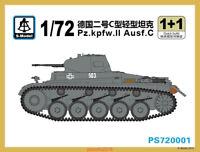 S-model 1/72 PS720001 Pz.Kpfw.II Ausf.C Light Tank (1+1)