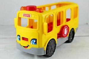 Fisher Price Little People Yellow School Bus 2016 Model DJB52 Songs Lights Sound