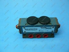 """Rexroth Pj31660 Double Air Pilot Operated Valve 4 Way 2 Position 3/8"""" Nptnew"""