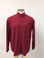 Men's Lands End Shirt Button Up Long Sleeve Fall Corduroy L 16 1/2