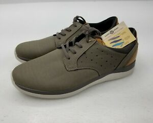 Earth Spirit Mens Shoes Gray Tan Cushioned Power Footbed Brand New We Care About