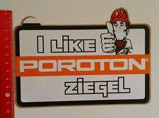 Aufkleber/Sticker: Poroton Ziegel 1981 (10081672)