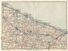 Carta geografica antica PUGLIA Costa da BARLETTA a BARI TCI 1926 Antique map