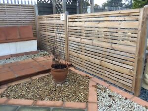 Contemporary Garden Screens, Modern Treated Fence Panels, The Milan 180x120cm