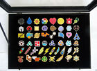 Pokemon Go Gym Badges with Glass Lid Display Showcase Set of 50 Lapel Pin Badges