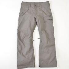 Burton Snowboard Vent Pants Ski Snow Dryride Nylon Gray Adjustable Mens Large L