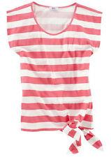 Gestreifte hüftlange Damenblusen, - tops & -shirts in Kurzgröße für die Freizeit