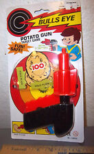 Potato Gun toy, Bulls eye with 2 targets, fun & safe for kids 3 and older, NEW