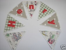 CATH KIDSTON Billie Goes To Town FABRIC PERSONALISED BUNTING £2.50/lettered flag