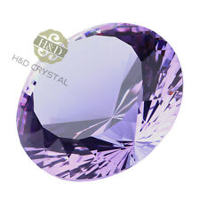 200mm Purple Crystals Diamond Paperweight For Wedding Decor Party Favor Gift Box