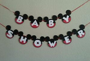 Mickey Mouse Baby Shower Banner, Free Shipping USA.