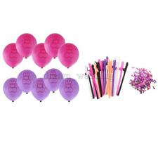 Novelty 20x Willy Drinking Straws+Confetti+10x Balloons for Bachelor Party