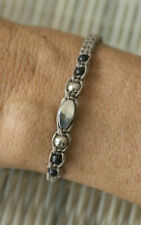 Twisted Metal Craft Handcrafted 21211 Bracelet Friendship Ethnic Taupe Pearl