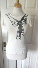 Ted Baker Off White Butterfly Detail Top Size 8/1 *VGC*