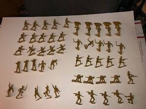 WWII Japanese Soldiers 1963 Louis Marx company 1:32 scale  500 piece lot. NEW