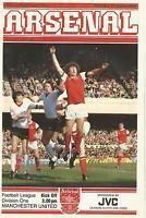 Football Programme - Arsenal v Manchester United - Div 1 - 26/9/1981