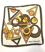 "Michael Murray vintage silk square scarf  21"" x 21"" 1960's"