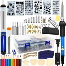 95Pcs Wood Burning Pen Tool Soldering Stencil Iron Craft Set Pyrography Kit 60W