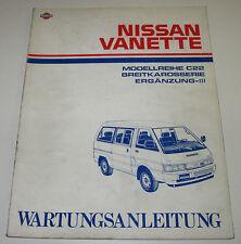 Anleitungen & Handbücher Nissan Vanette C120 Werkstatthandbuch Wartungsanleitung