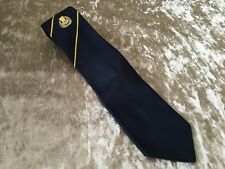 CURRIE RFC RUGBY UNION TIE - BLUE & YELLOW STRIPE - T10