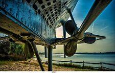 U-Boot,Unterwasserfahrzeug, Bild auf Leinwand,60x100 cm/1771 UBoot