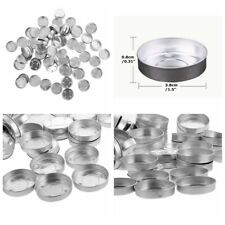 100Pcs Light Tins Containers Candle Making Aluminum Tealight Empty Case Tea