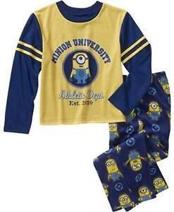 Despicable Me 2 Minion University Size 8 Medium Pajamas New Sleepwear