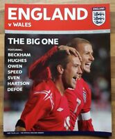 England v Wales 9th October 2004 football programme
