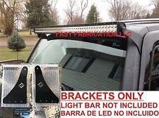 "Hummer H3 50 Inch 50"" LED Light Bar Mount Brackets - Straight/Curved -SCREWS"