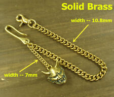 Handmade Brass Key chain Wallet Bag Fob chain with Ghost face pendant keychains