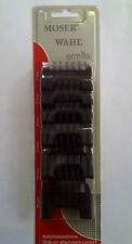 WAHL Moser 6 Pack Clipper Guard Attachment Combs - Fits Bellissima, Academy etc