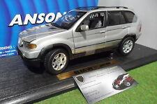 BMW X5 gris silver échelle 1/18 du fabricant ANSON 30385 voiture miniature 4x4