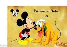 Plaque de porte en ( sur ) bois personnalisée Mickey N° 55  avec prénom ou texte