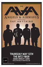 Angels & Airwaves with Say Anything * Original Concert Poster FREE USA SHIPPING
