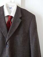 mens multi color EMANUEL UNGARO jacket blazer sport coat 100% wool 3 button 44R