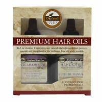 Difeel Premium Natural Hair Oil- Macadamia Hair Oil & Manuka Oil 2.5oz 2PC SET