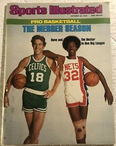 1976 Sports Illustrated ABA and NBA MERGER Julius ERVING Dave COWENS No Label