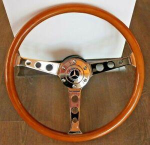 Steering Wheel Mercedes Benz Wood W123 W124 W126 W201 R107 W116 Wooden 1978-1992