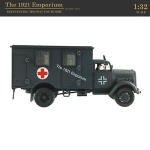 1:32 Diecast Unimax Toys Forces of Valor WWII German Opel Blitz Ambulance Truck