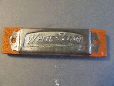 VINTAGE WOOD TIN TOY HARMONICA WHITE STAR JAPAN