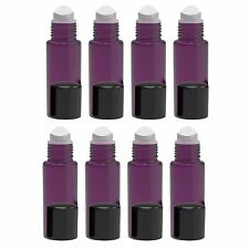 6-Pack of 10ml Empty Glass Roll on Bottles Refillable Perfume Essential Oil